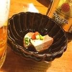 蛇の目寿司 - 蛇の目寿司@西新橋店 ♪ 本日のお通し「あん肝ポン酢」(^^)