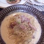 パスタココ・ピッコロ - セレブランチ(1100円 )。カブと明太子のカルボナーラ