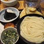 うどん 丸香 - 釜揚げうどん+野菜天