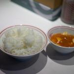 蒙古タンメン中本 - 定食大盛り・・・おかずが少ない(笑)