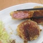松ぼっくり - 肉厚のハムカツ¥300円