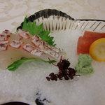 北瑞苑 - 鯛と鮪のお刺身