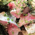 海鮮食堂 い志い - 済州島産鯖のゴマサバ。 脂のりのり&ぷりぷりです。