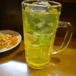 梅暦酒店 - ウコン茶割り