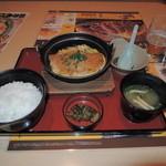 ジョイフル - かつとじ定食 599円