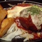23836130 - 『松坂牛入り 鉄板ハンバーグ』(チーズソース)のアップ~♪(^o^)丿