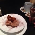ザ シティ ベーカリー ブラッスリー ルービン - 2013年12月シティベーカリーセミフレッド ホットチョコレートかけ800円