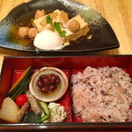 23839565 - 日替わり(鶏つくねと豆腐の煮物)