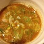 23841415 - しょうゆつけ麺のスープ