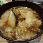 吉い - 2014.01 大和芋と椎茸の味噌汁。