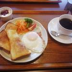 cafe 楽 - モーニング650円