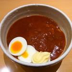 京喫茶 潤 - シンプルなカレーにトッピングはゆで卵とマヨネーズ!