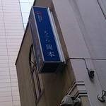 天ぷら岡本 - 看板