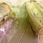 23846017 - チャバタサンドイッチと食パンサンドイッチ