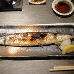 さんしん亭 - 新さんまの塩焼き 600円