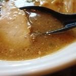 味龍尾道店 - 濁り系スープだと分かる