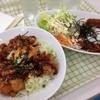 ロッキー - 料理写真:唐揚げ丼と鷲ケ岳名物のジャージャーラライス