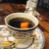 備屋珈琲店 - ドリンク写真:スペシャルブレンド 750円くらい カップ、選べるハズですが、自動的にコレになりました・・・