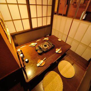 自慢の個室空間