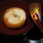 日本料理 対い鶴 - 温白子豆腐(山葵と鰹醤油で)