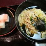 日本料理 対い鶴 - 蕎麦、二色長芋漬け