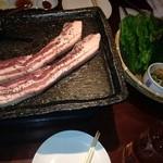 李朝園 - 料理写真:サムギョプサル!