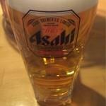 ホルモン 月蔵 - 生ビール(380円)。