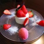 エシュロンティーハウス - 紅ほっぺを使ったショートケーキ