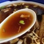 日の出屋 - もりそば、スープ