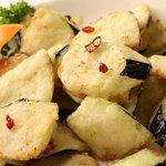 刀削麺・火鍋 XI'AN - 野菜料理No.1ナスの山椒揚げ