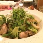 23870287 - 牡蠣とお野菜たっぷりのパスタです。