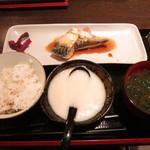 Fusa - 麦とろ+さば味噌@500円