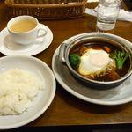 洋食亭ブラームス - 煮込みハンバーグセット