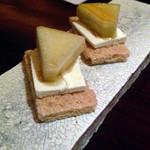 バー ル・サロン - 付きだし(クラッカー&チーズ&林檎)