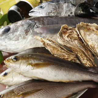 北海道産牡蠣&市場直送の新鮮魚介