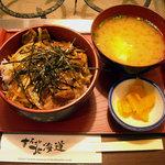 まるごと北海道 - 「生ラムジンギスカン丼」800円(シルバーウィーク中720円)