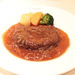 ノルマンディー - 国産牛のハンバーグステーキ オニオンソース '14 1月中旬