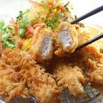ママン - 阿波尾鶏チキンカツ定食¥1270-