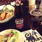 びいる亭 - プレミアムフランボワーズ  初ベルギービール! 甘いビールって何だ!?と思っていたけど… うまああああ(*´∇`*)  今度はピーチも飲んでみようかな〜♪♪