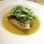 ル・ジャルダン・デ・サヴール - 真鯛のトリュフ蒸し スープ仕立て