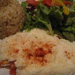 BELDA CAFE - 玄米プレート(鶏挽肉とトマトのホワイトオムレツ)