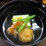 2389156 - 椀物(銀杏豆腐・海老・蓮根餅)