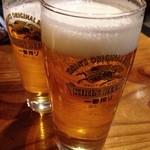 和麺居酒屋 一歩 - 生ビール