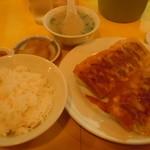 らくてん - 焼き餃子(2人前)定食♪750円