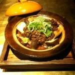 石慶 - しめじ・椎茸・長葱の肉味噌オーブン