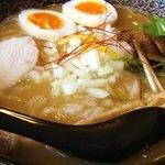 鶏翔 - 濃厚鶏そば(醤油)味玉の大盛り!