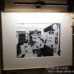 洋食屋 双平 - 成田さんの切り絵にもなってる店内(撮影許可済)