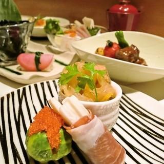 旬の野菜をふんだんに取り入れた創作和食が人気の「大人の美食空間 暖心」
