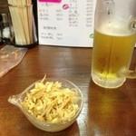 お華 - モヤシナムルと生ビール
