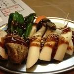 お華 - 野菜盛り合わせ(400円)